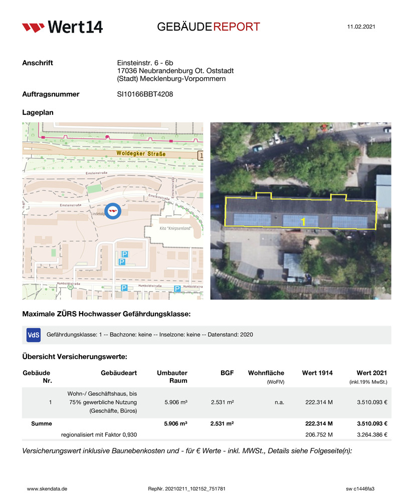 Wert14 Muster-GebäudeReport » Wert14